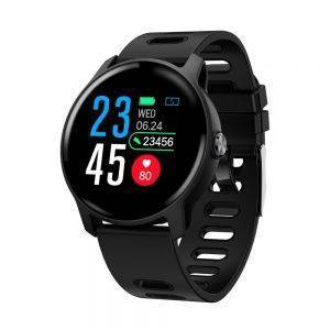 Fitness Tracker Heart Rate Monitor Pedometer Waterproof Smartwatch For Android IOS Phone Wrist Watches cb5feb1b7314637725a2e7: Black GrayBlue Pink WHITE