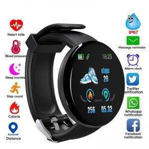 Bluetooth Smart Watch Blood Pressure Waterproof Sport Tracker Wrist Watches cb5feb1b7314637725a2e7: D13pro black|D13pro blue|D13pro green|D13pro pink|D13pro red|D18 add 4 straps|D18 add blue strap|D18 add green strap|D18 add pink strap|D18 add red strap|D18 Black|D18 Blue|D18 green|D18 pink|D18 red