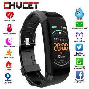 Smart Fitness Bracelet Blood Pressure Fitness Tracker – Waterproof Smart Band Watch Wrist Watches cb5feb1b7314637725a2e7: Add 5 straps|Add a deep blue|Add a gray strap|Add a light blue|Add a pink strap|Add a white strap|Black|Deep Blue|gray|Light blue|Pink|WHITE