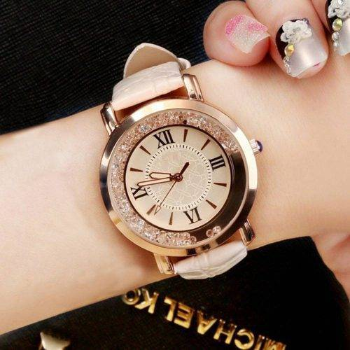 Rhinestone Leather Bracelet Wristwatch – Alloy Analog Quartz Wrist Watches cb5feb1b7314637725a2e7: Black|Blue|box|Brown|Pink|Red|WHITE