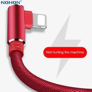 90 Degree Charger Cable For iPhones, iPad – Fast Charge Data USB Wire Cord USB Phone Cables cb5feb1b7314637725a2e7: Black|Blue|grey|Red|WHITE