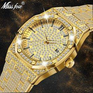MISSFOX Women Watches Luxury Brand Gold Wrist Watches cb5feb1b7314637725a2e7: V294-G|V294-G-S|V294-S