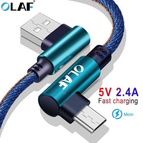 90 Degree Micro USB Fast Charging Data Cord For Android Mobile Phone USB Phone Cables cb5feb1b7314637725a2e7: Black|Blue|Red