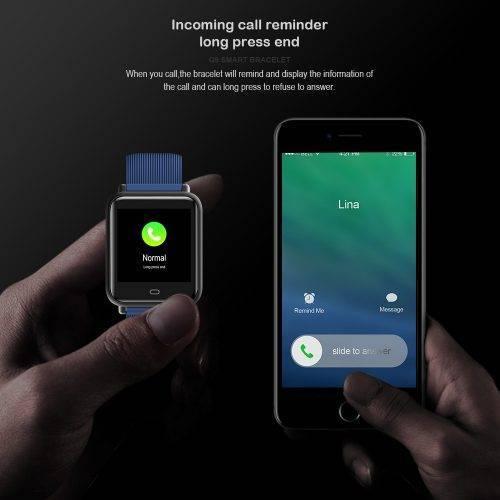Blood Pressure Heart Rate Monitor Smart Watch IP67 Waterproof Sport Fitness Tracker Wrist Watches cb5feb1b7314637725a2e7: Black Blue Brown Purple Red